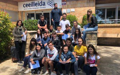 Visita d'estudiants de l'Institut Caparrella al CEEILleida