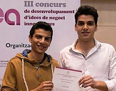 John Amin i Joan Folguera, emprenedors del CEEILleida, i les consultores INTECH3D i Invelon, guardonats amb el Premi Mensa Lleida 2019 al coneixement emprenedor