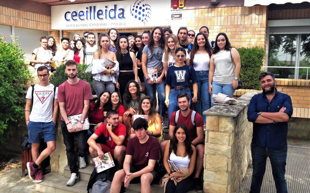 Visita d'un grup d'estudiants de Comunicació Audiovisual al CEEILleida