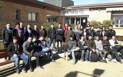 Estudiants de l'Institut Caparrella s'inicien en el món de l'emprenedoria visitant el Ceeilleida