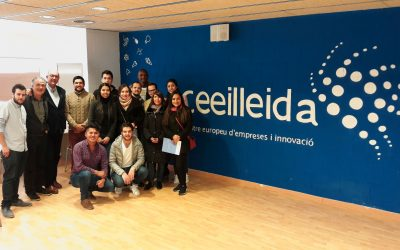 Visita al CEEILleida d'un grup d'estudiants llatinoamericans de Màster Internacional de Creació i Acceleració d'Empreses, amb conveni amb la UdL