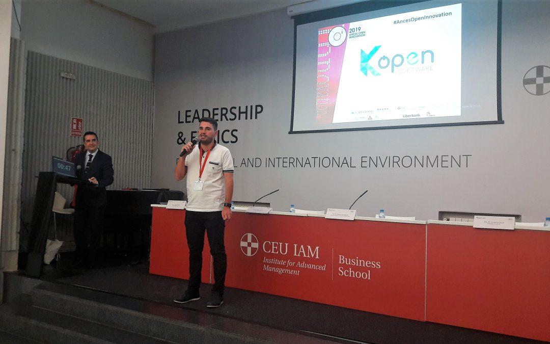 Experiència positiva de Kopen Software en l'acte final de l'ANCES Open Innovation