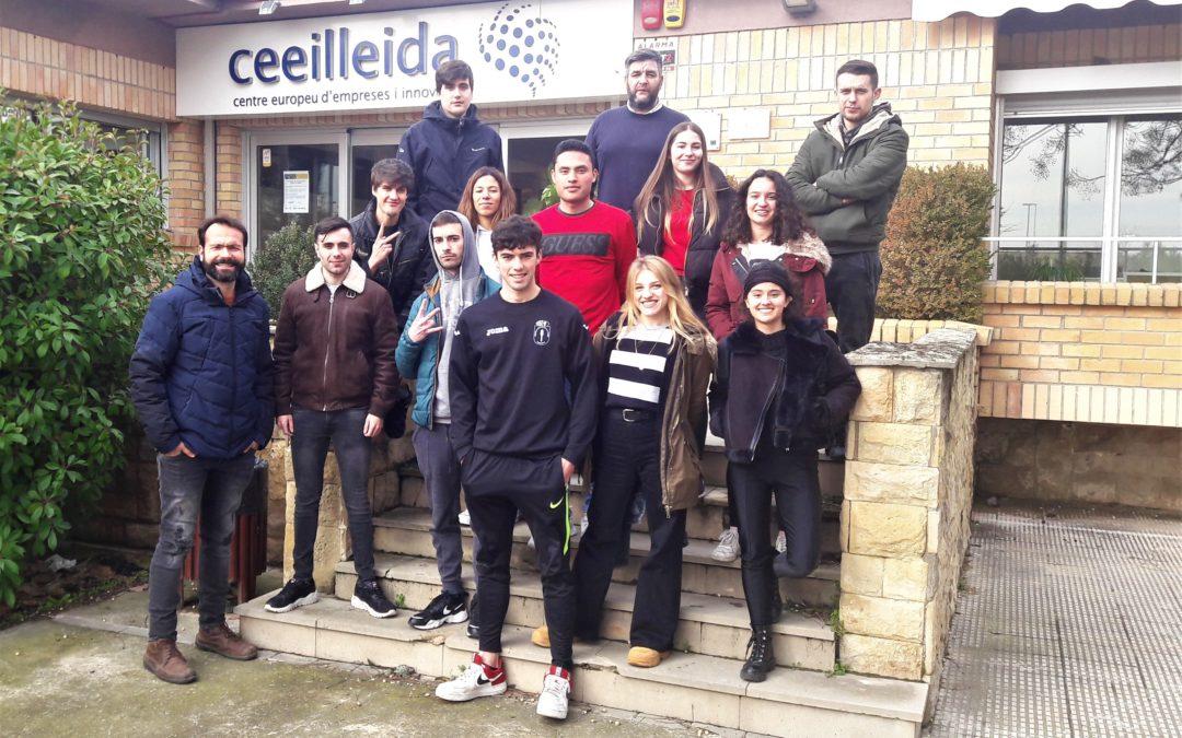 Estudiants de màrqueting i publicitat de l'Escola del treball visiten el CEEILleida
