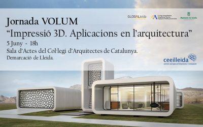 Jornada Impressió 3D. Aplicacions en l'arquitectura, el 5 d'abril al Col·legi d'Arquitectes