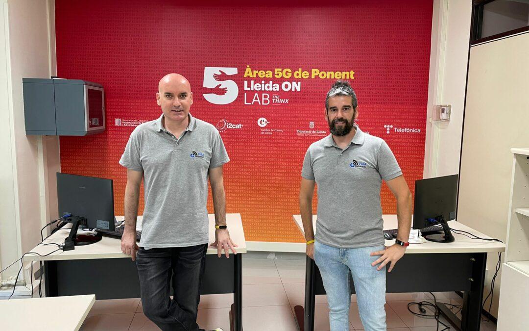 L'empresa del CEEILleida PIRA Technology fa la demostració d'un dispositiu de LAB5G de l'Àrea 5G de Ponent