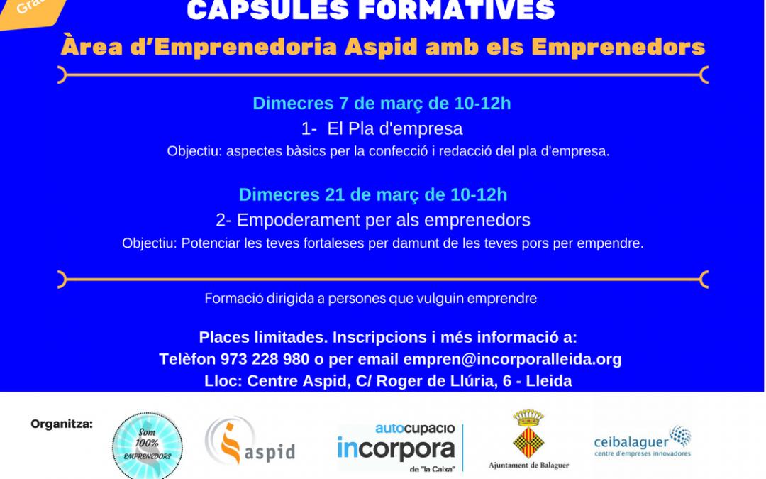 Formació per l'emprenedoria al CEI Balaguer