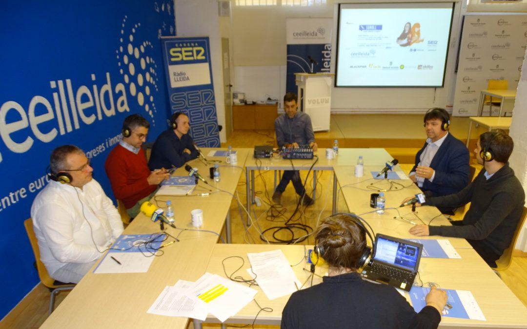 El CEEILleida, estudi de ràdio amb el programa 'Empresaris' de Ràdio Lleida-Cadena SER