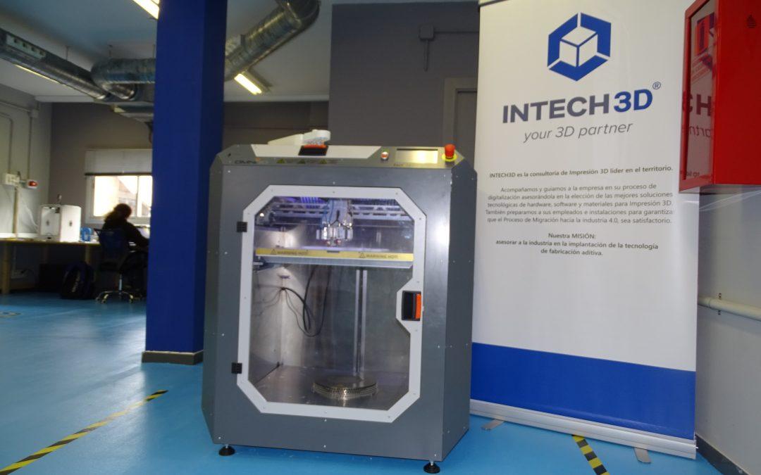 INTECH3D treballa amb una impressora única a Catalunya que construeix grans peces de múltiples materials en una sola impressió