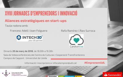 Cardionlive i INTECH3D participen en la taula rodona Aliances estratègiques en start-ups