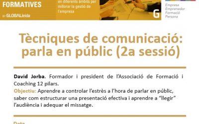 """El Ceeilleida oferirà el 2 de març una segona sessió de la càpsula """"Tècniques de comunicació: parla en públic"""" davant l'alta demanda d'assistents"""