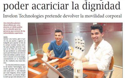 Reportatge sobre Invelon Technologies al diari La Mañana