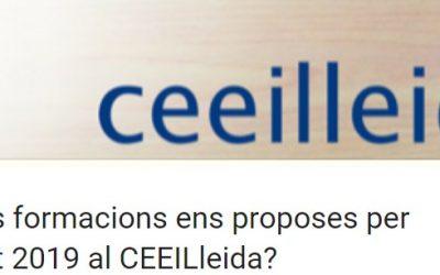 Tria quina formació vols que ofereixi el CEEILleida en aquest any 2019