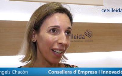 Vídeo de la visita al CEEILleida de la consellera d'Empresa i Coneixement, Àngels Chacón