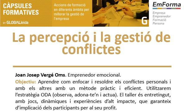 """Càpsula al Ceeilleida: """"La percepció i la gestió de conflictes"""", dijous 6 de juliol"""