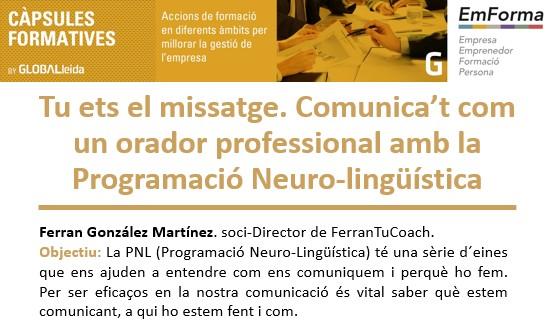 Comunica't com un orador professional, càpsula formativa al CEEILleida