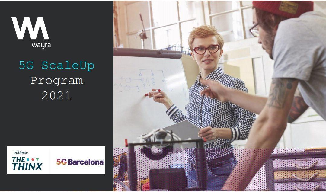 Oberta la convocatòria de la 2a edició del programa d'acceleració empresarial 5GScaleUpProgram