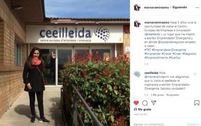 Marce Ramírez, assessora de més de 10.000 emprenedors a Mèxic, s'inspira en el CEEILleida per escriure el llibre 'Emprendedor Divergente'