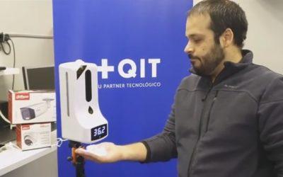 Masqueit, empresa instal·lada en el viver del CEEILleida, dissenya un dispensador de gel hidroalcohòlic amb control de temperatura corporal