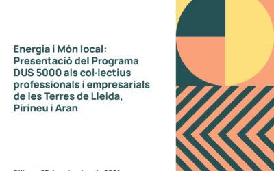 Jornada sobre energia i món local: presentació de la línia d'ajuts DUS5000 finançada pel fons Next Generation