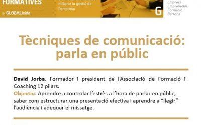 """Nova càpsula el 23 de febrer al Ceeilleida: """"Tècniques de comunicació: parla en públic"""""""