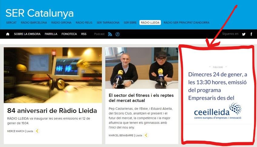 Ràdio Lleida emet des del CEEILleida el programa 'Empresaris' aquest dimecres, 24 de gener