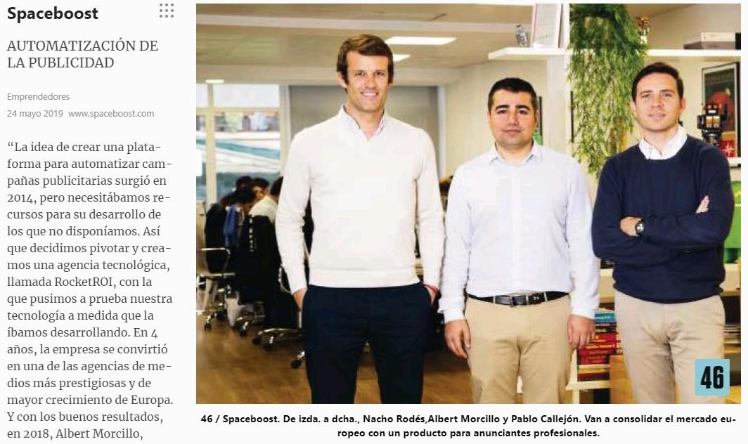 Spaceboost és notícia al número de juny de la revista 'Emprendedores'